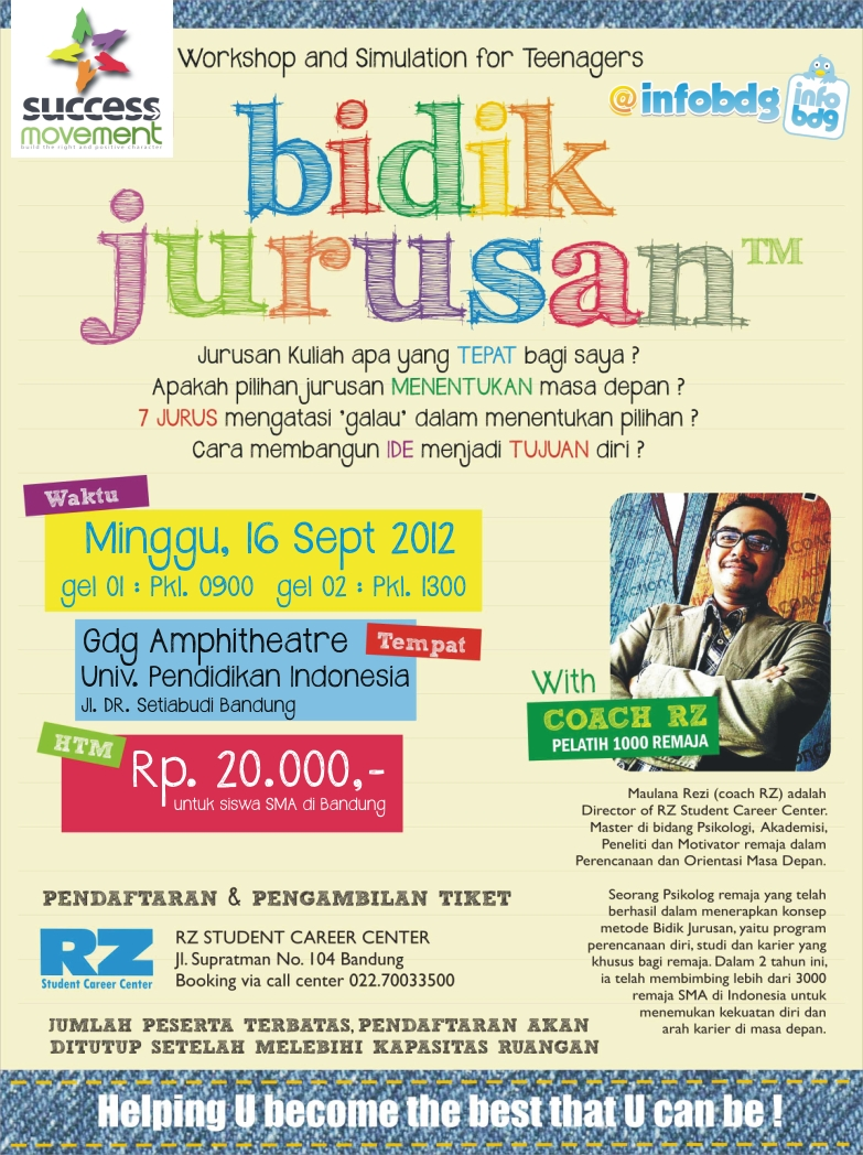 "BIDIK JURUSAN"" Workshop and Simulation For Teenagers"