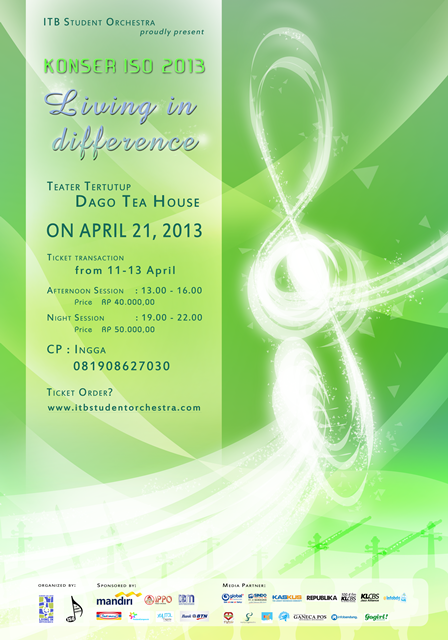 Konser ISO 2013 Living in Differences [poster]
