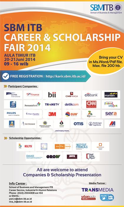 Career Amp Scholarship Fair Sbm Itb 2014