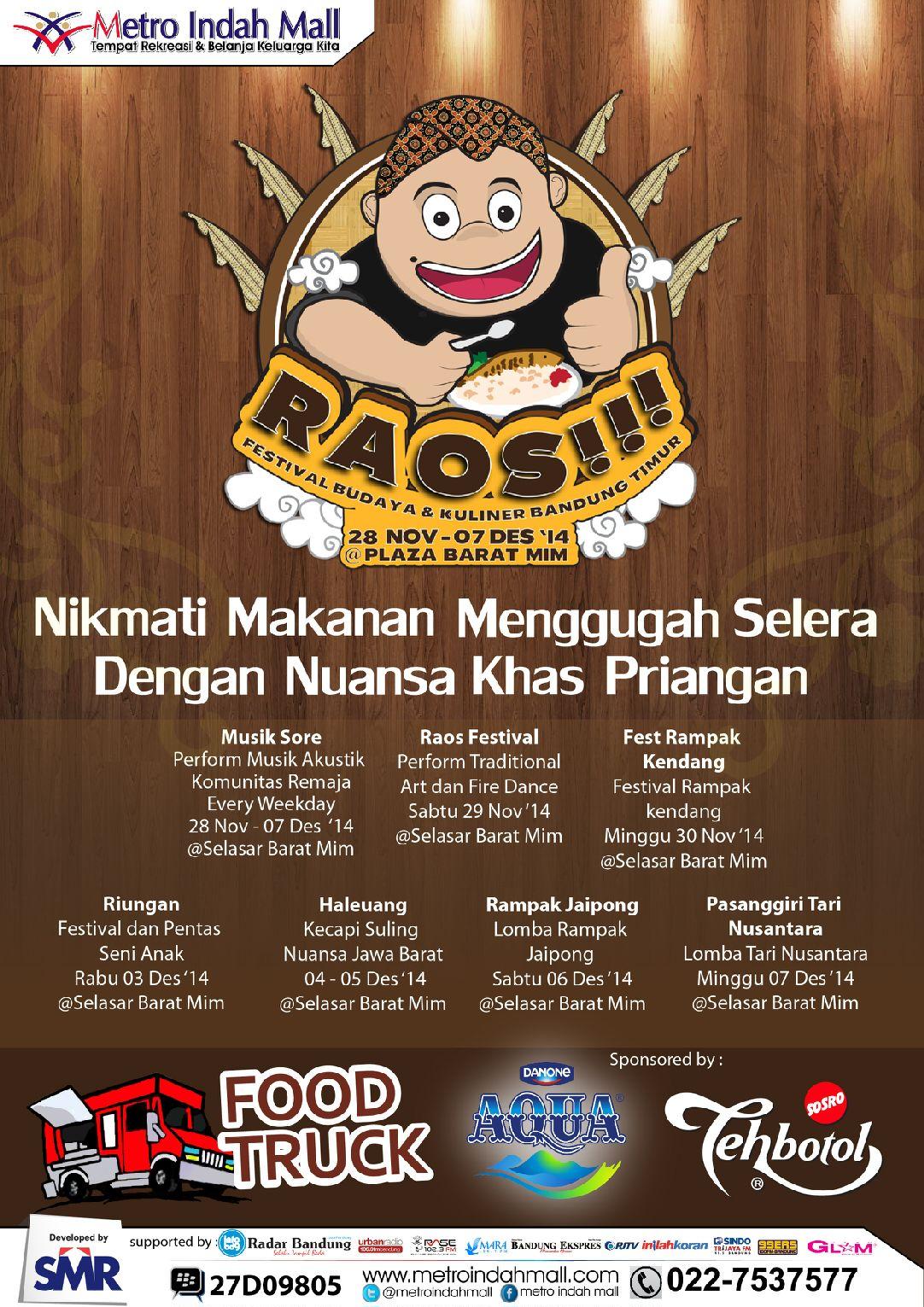 Raos Festival Budaya Kuliner Bandung Timur Infobdg Com