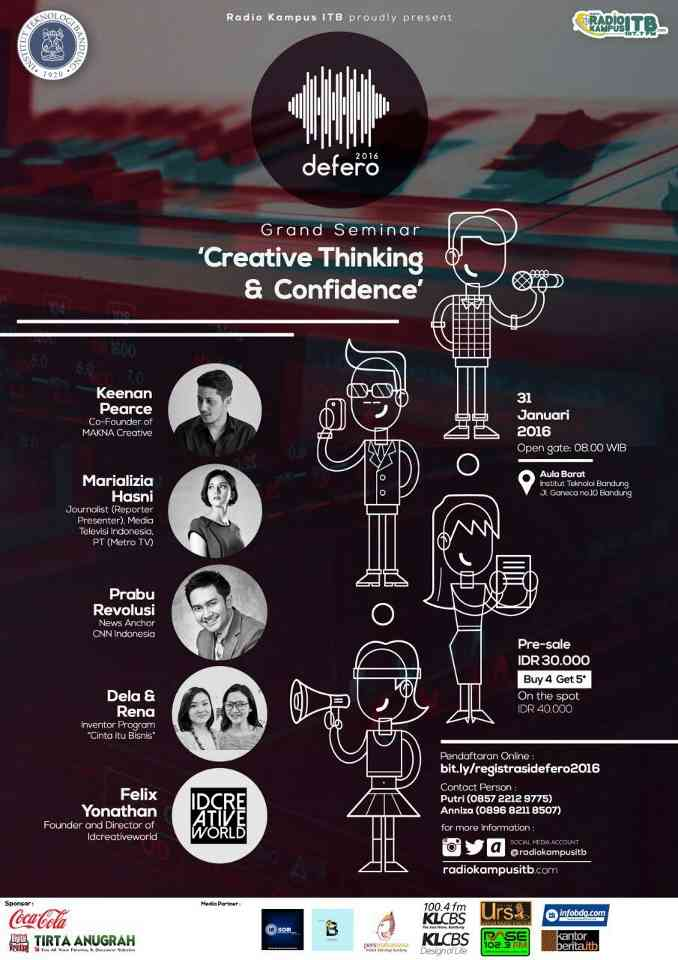 poster creative thinking & confidence