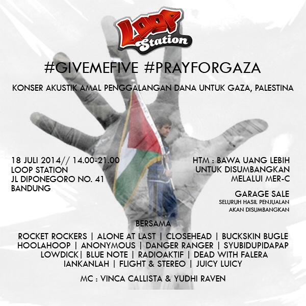 poster pray for gaza 18 juli 2014