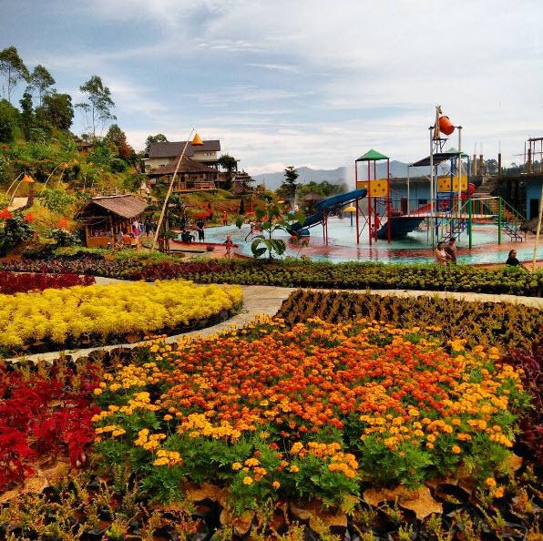 Kolam Air Hangat Kebun Cinta Di Barusen Hills Gambung Ciwidey