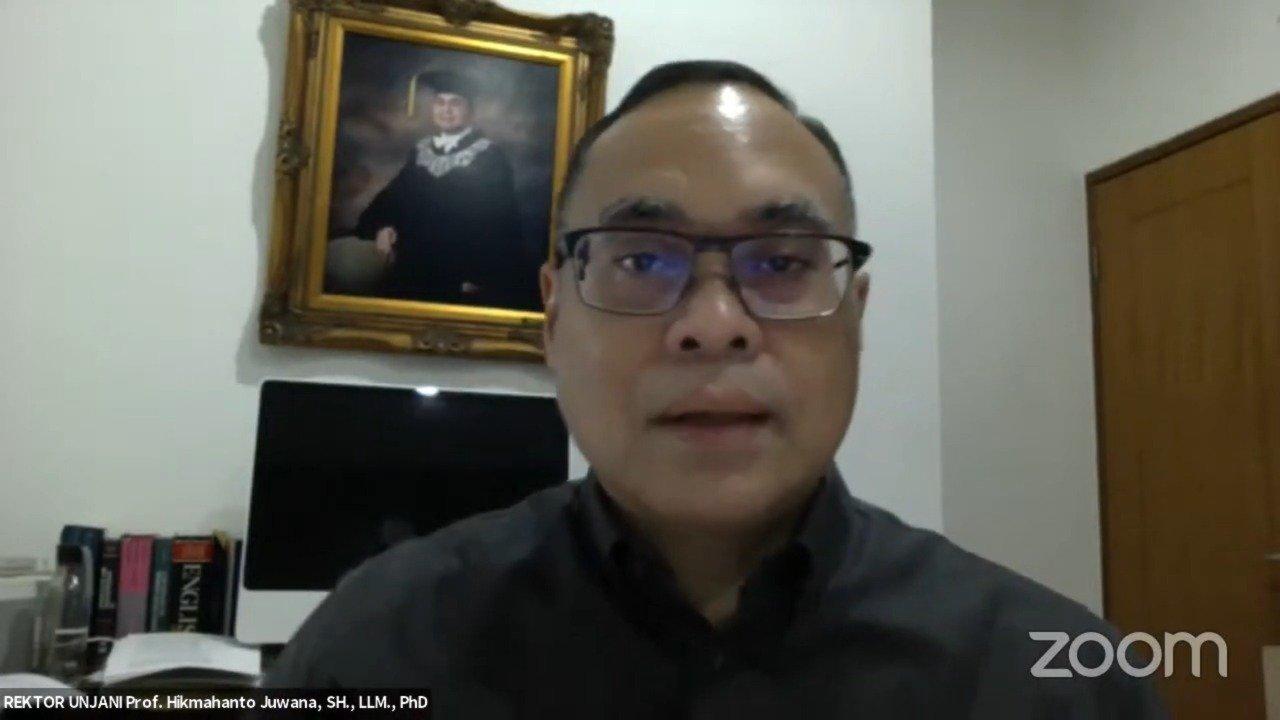 Rektor Universitas Jenderal Achmad Yani (Unjani) Cimahi, Prof. Hikmahanto Juwana, S.H., LL.M., Ph.D,
